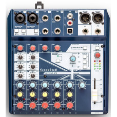 Soundcraft Notepad-8FX Микшер 8 калалов. Процессор эффектов