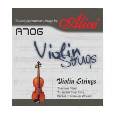Alice A706 Комплект струн для скрипки сталь/никель