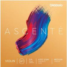 D'Addario A310-3/4M Ascente Комплект струн для скрипки 3/4