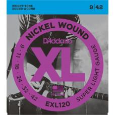 D'Addario EXL120 струны для электрогитары 9-42