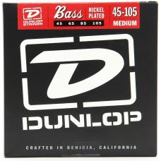 Dunlop DBN45105 комплект струн для бас-гитары. Никель. 45-105