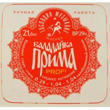 """Господин Музыкант BP29N PROFI """"Красная"""" Комплект струн для балалайки прима, сталь/нейлон"""