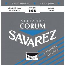 Savarez 500AJ Alliance Corum струны для классической гитары, нейлон, высокое натяжение