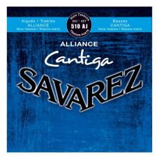 Savarez 510AJ Alliance Cantiga Blue high tension струны для классической гитары, нейлон