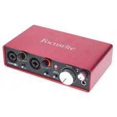 FOCUSRITE Scarlett 2i2 2nd Gen USB аудио интерфейс, 2 входа/2 выхода