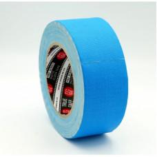 Профессиональный тейп 120mesh @trueGAFF 50мм/25м - Голубой (Светится в ультрафиолете) на тканевой основе для киносъемок и сцен тип Gaffer Pro tape