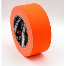 Профессиональный тейп 120mesh @trueGAFF 50мм/25м - Оранжевый (Светится в ультрафиолете) на тканевой основе для киносъемок и сцен тип Gaffer Pro tape
