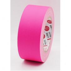 Клейкая лента Gaffer Tape@ultraMATT - Гаффа тейп 50мм/25м - Розовый (Светится в ультрафиолете)