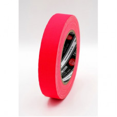 Профессиональный тейп 120mesh @trueGAFF 25мм/25м - Розовый Пинк (Светится в ультрафиолете) на тканевой основе для киносъемок и сцен тип Gaffer Pro tape
