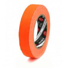 Профессиональный тейп 120mesh @trueGAFF 25мм/25м - Ярко Оранжевый (Светится в ультрафиолете) на тканевой основе для киносъемок и сцен тип Gaffer Pro tape