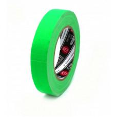 Профессиональный тейп 120mesh @trueGAFF 25мм/25м - Ярко Зеленый (Светится в ультрафиолете) на тканевой основе для киносъемок и сцен тип Gaffer Pro tape