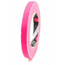 Профессиональный тейп 120mesh @trueGAFF 12мм/25м - Розовый Пинк (Светится в ультрафиолете) на тканевой основе для киносъемок и сцен тип Gaffer Pro tape