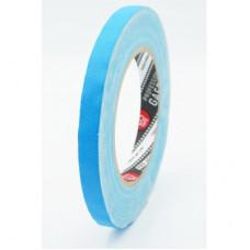 Профессиональный тейп 120mesh @trueGAFF 12мм/25м - Ярко Голубой (Светится в ультрафиолете) на тканевой основе для киносъемок и сцен тип Gaffer Pro tape