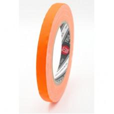 Профессиональный тейп 120mesh @trueGAFF 12мм/25м - Ярко Оранжевый (Светится в ультрафиолете) на тканевой основе для киносъемок и сцен тип Gaffer Pro tape