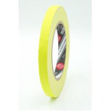 Профессиональный тейп 120mesh @trueGAFF 12мм/25м - Ярко Желтый (Светится в ультрафиолете) на тканевой основе для киносъемок и сцен тип Gaffer Pro tape