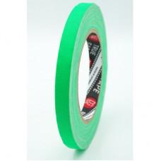 Профессиональный тейп 120mesh @trueGAFF 12мм/25м - Ярко Зеленый (Светится в ультрафиолете) на тканевой основе для киносъемок и сцен тип Gaffer Pro tape