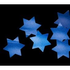Global effects Конфетти бумажное Звезды шестиконечные синие